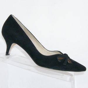 Joan & David 'Gardner' black suede heels 7.5M